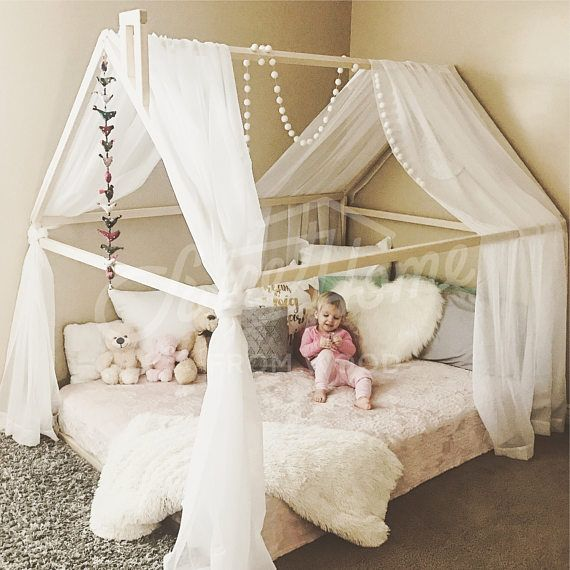 SweetHOMEfromwood full size Montessori Toddler Bed House is a stunning ...