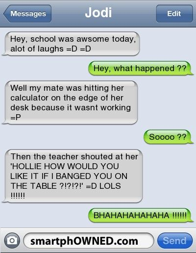 I wish that this had happened in my math class! =D