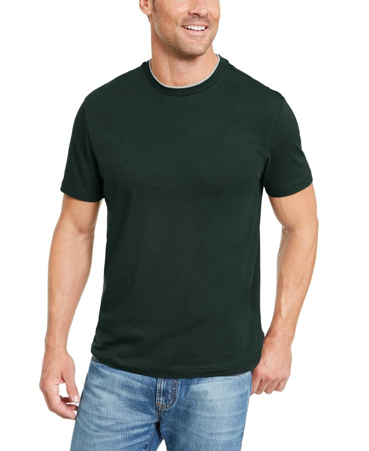 Club Room Men's Performance Doubler Short-Sleeve T-Shirt, Created for Macy&#...
