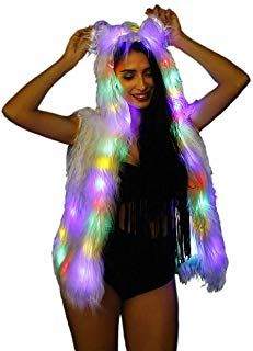 SAOMAI LED Light up Vest Womens Hoodie Performance Costume for Party Carnival >>...