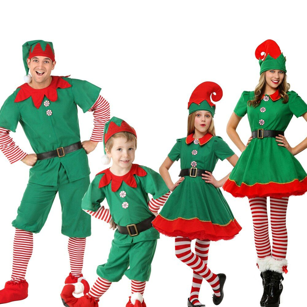 Matching Christmas Outfits For The Whole Family- New Holiday Elf Costume Family Christmas Costume. - Kids and Mom Shop