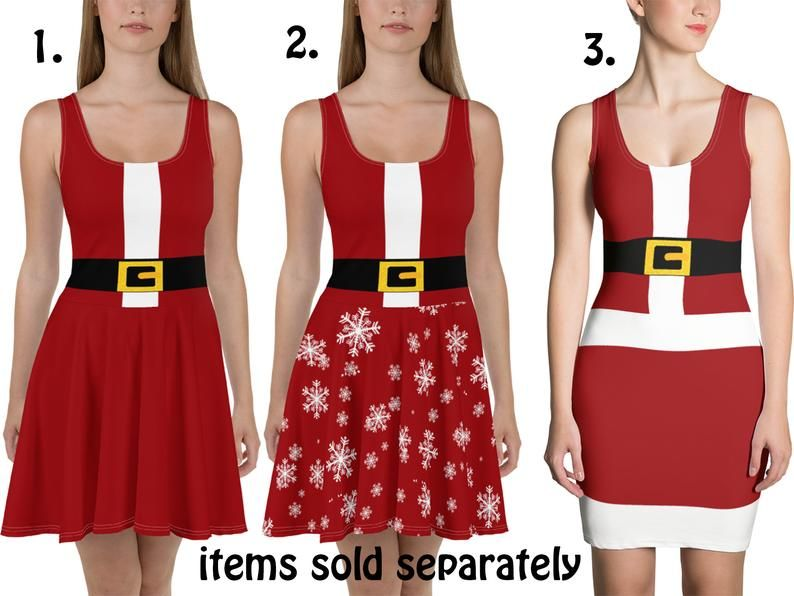 Santa Claus Dress Women Christmas Costume Cosplay Skater Fitted Red Snowflakes BodyCon Fitted Spandex Sleeveless Belt Outfit Party Gift