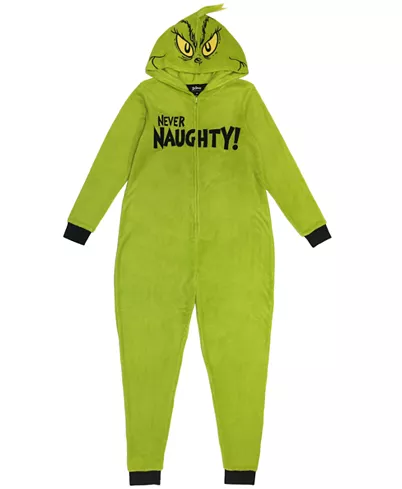 The Grinch Matching Women's Hooded Pajamas, Online Only & Reviews - Bras, Panties & Lingerie - Women - Macy's
