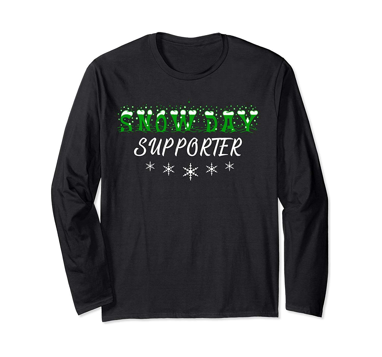 Snow Day Supporter Snowflakes Christmas Costume Gift Long Sleeve T-Shirt
