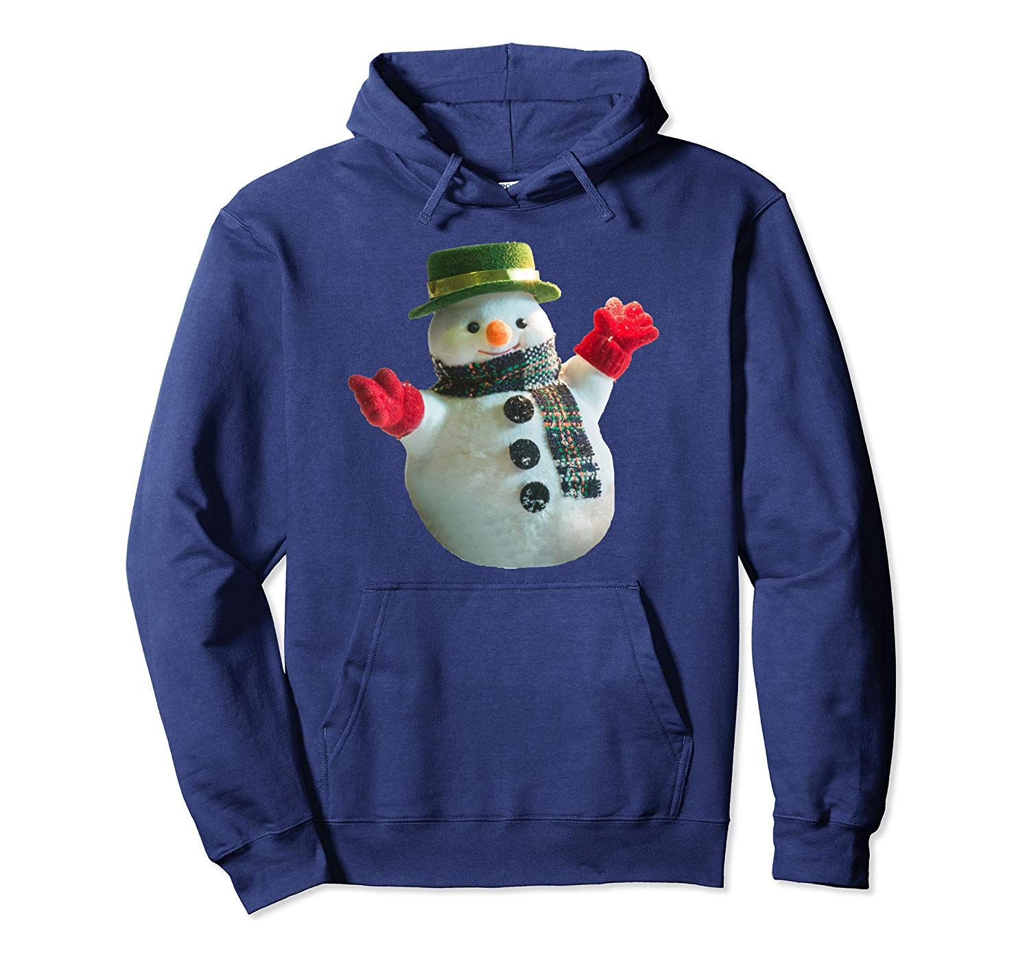 Cute dressed Snowman funny Christmas Costume New Year's Gift Pullover Hoodie